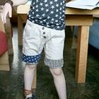 กางเกงขาสามส่วนสกรีนลายดาว-สีขาว-(4-ตัว/pack)