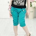 กางเกงขาสามส่วน-สีฟ้า-(4-ตัว/pack)