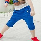 กางเกงขาสามส่วน-สีน้ำเงิน-(4-ตัว/pack)