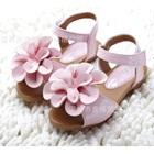 รองเท้าเด็กดอกไม้ใหญ่-สีชมพู-(5-คู่/แพ็ค)