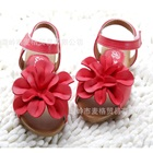 รองเท้าเด็กดอกไม้ใหญ่-สีแดง(5-คู่/แพ็ค)