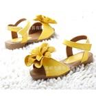 รองเท้าเด็กดอกไม้ใหญ่-สีเหลือง-(5-คู่/แพ็ค)