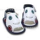 รองเท้าแตะเด็กรถยิ้ม-สีขาว-(4-คู่/แพ็ค)