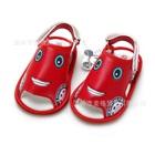 รองเท้าแตะเด็กรถยิ้ม-สีแดง-(4-คู่/แพ็ค)