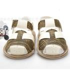 รองเท้าแตะเด็ก-สีน้ำตาลอ่อน-(4-คู่/แพ็ค)