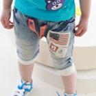 กางเกงยีนส์ขาสามส่วนธงชาติสหรัฐ-(5-ตัว/pack)