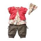 ชุดเสื้อกางเกงลายลูกโป่ง-สีชมพูน้ำตาล-(5-ตัว/pack)