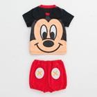 ชุดเสื้อกางเกง-Mickey-Mouse-สีแดงดำ-(5-ตัว/pack)