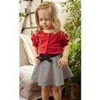 ชุดเสื้อกระโปรงลายขวาง-สีแดงดำ-(5-ตัว/pack)
