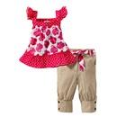 เสื้อกางเกงลายดอกกุหลาบ-สีชมพู-น้ำตาล-(5-ตัว/pack)
