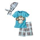 ชุดเสื้อกางเกงลิงน้อย-สีฟ้า-(5-ตัว/pack)