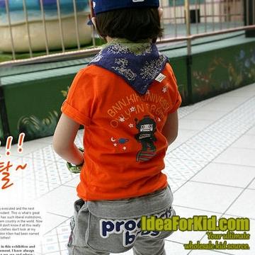 เสื้อยืดคอกลม Universe สีส้ม (5size/pack)