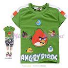 เสื้อยืดAngryBirdsหน้าเล็กใหญ่-สีเขียว(6size/pack)