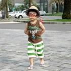 ชุดเสื้อกางเกงลิงน้อย-สีน้ำตาลเขียว-(5-ตัว/pack)