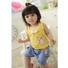 ชุดเสื้อกางเกงกระต่ายน้อย-สีเหลืองฟ้า-(4-ตัว/pack)