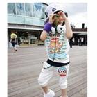 ชุดเสื้อกางเกงลิงอวกาศ-สีขาว-(5-ตัว/pack)