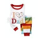 ชุดนอน-I-love-dad-สีขาวแดง-(6-ตัว/pack)