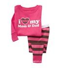 ชุดนอน-I-love-mom-dad-สีชมพู-(6-ตัว/pack)