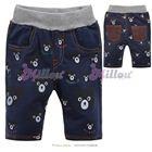 กางเกงสามส่วนหมีน้อยร้อยหน้า-สีน้ำเงิน(6size/pack)