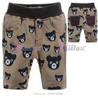 กางเกงสามส่วนหมีน้อยร้อยหน้า-สีน้ำตาล-(6size/pack)