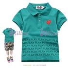 เสื้อยืดคอปก-Play-สีเขียว--(5size/pack)