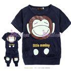 ชุดเสื้อกางเกง-little-monkey-สีกรม--(5size/pack)