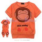 ชุดเสื้อกางเกง-little-monkey-สีส้ม--(5size/pack)