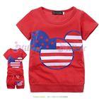 ชุดเสื้อกางเกง-Hello-mickey-สีแดง--(5size/pack)