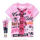 เสื้อยืด-Kitty-สุดเท่ห์-สีชมพู--(6size/pack)