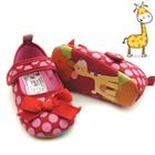 รองเท้าเด็ก-ยีราฟ-ลายจุดสีชมพู(6-คู่ต่อแพ็ค)