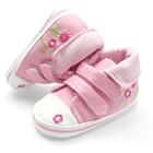 รองเท้าเด็ก-ดอกไม้น่ารัก-สีชมพู