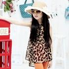 เสื้อแขนกุดลายเสือดาว-สีน้ำตาล(5ตัว/pack)