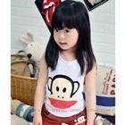 เสื้อกล้ามลิงยิ้มแย้ม-สีขาว-(5ตัว/pack)