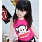 เสื้อกล้ามลิงยิ้มแย้ม-สีชมพู-(5ตัว/pack)
