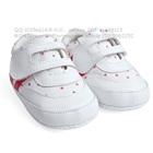 รองเท้าผ้าใบเด็กลายจุด-สีขาวชมพู-(4-คู่/แพ็ค)