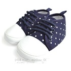 รองเท้าผ้าใบเด็กลายจุด-สีน้ำเงิน-(4-คู่/แพ็ค)