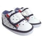 รองเท้าผ้าใบเด็กลายจุด-สีขาว(4-คู่/แพ็ค)