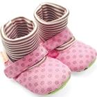 รองเท้าเด็ก-ลายดอกไม้-สีชมพู