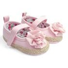 รองเท้าเด็กดอกกุหลาบ-สีชมพู-(6-คู่/แพ็ค)