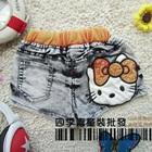 กางเกงยีนส์ขาสั้น-Hello-Kitty-สีดำ(5-ตัว/pack)