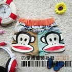 กางเกงยีนส์ขาสั้นลิงยิ้มแย้ม-สีน้ำเงิน(5-ตัว/pack)