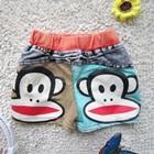 กางเกงยีนส์ขาสั้นลิงยิ้มแย้ม-สีดำ-(5-ตัว/pack)