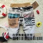 กางเกงยีนส์ธงชาติสหรัฐ-สีดำ-(5-ตัว/pack)