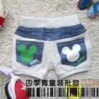 กางเกงยีนส์ขาสั้นMickey-Mouse-สีเทา-(5-ตัว/pack)