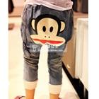 กางเกงยีนส์ขายาวลิงยิ้มแย้ม-(5-ตัว/pack)