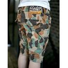 กางเกงขาสามส่วนลายทหาร-สีน้ำตาล-(4-ตัว/pack)
