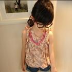 เสื้อเด็กแขนกุดลายดอกไม้-สีชมพู-(5ตัว/pack)