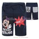 กางเกงขาสามส่วน-Mickey-Mouse-สีกรม-(6size/pack)