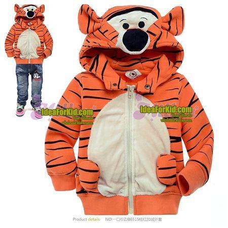 เสื้อกันหนาว Big tiger สีส้ม  (6size/pack)