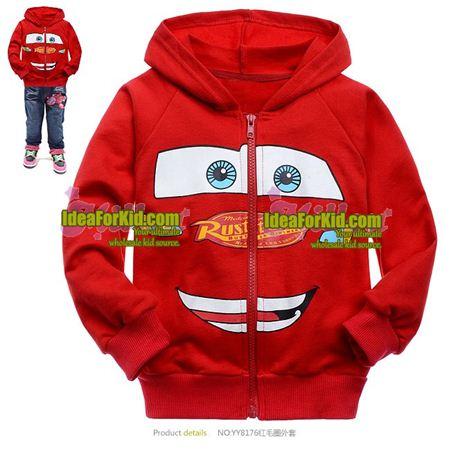 เสื้อกันหนาว Super Car สีแดง (6size/pack)